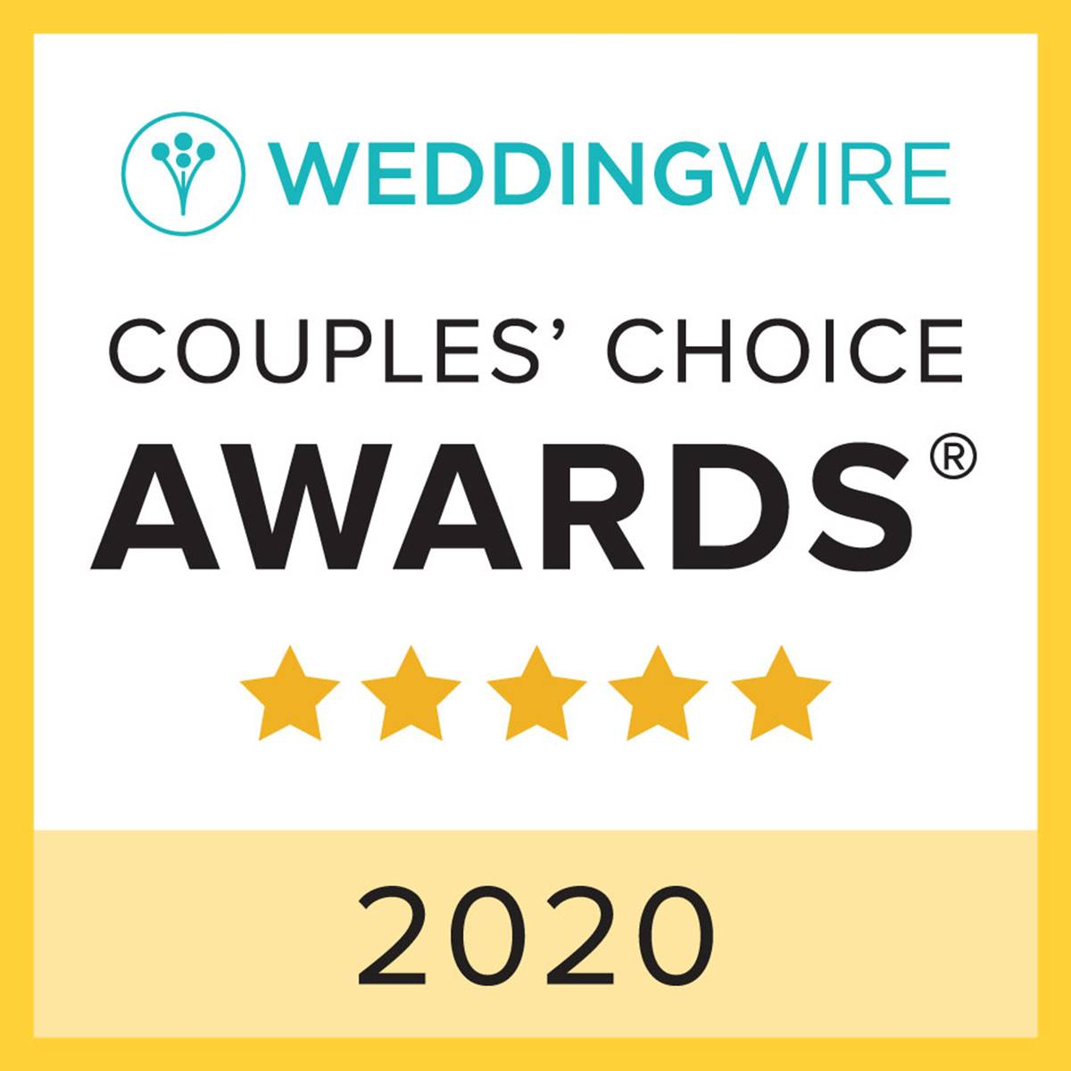 Wedding Wire Couples' Choice Awards 2020 Union Bluff